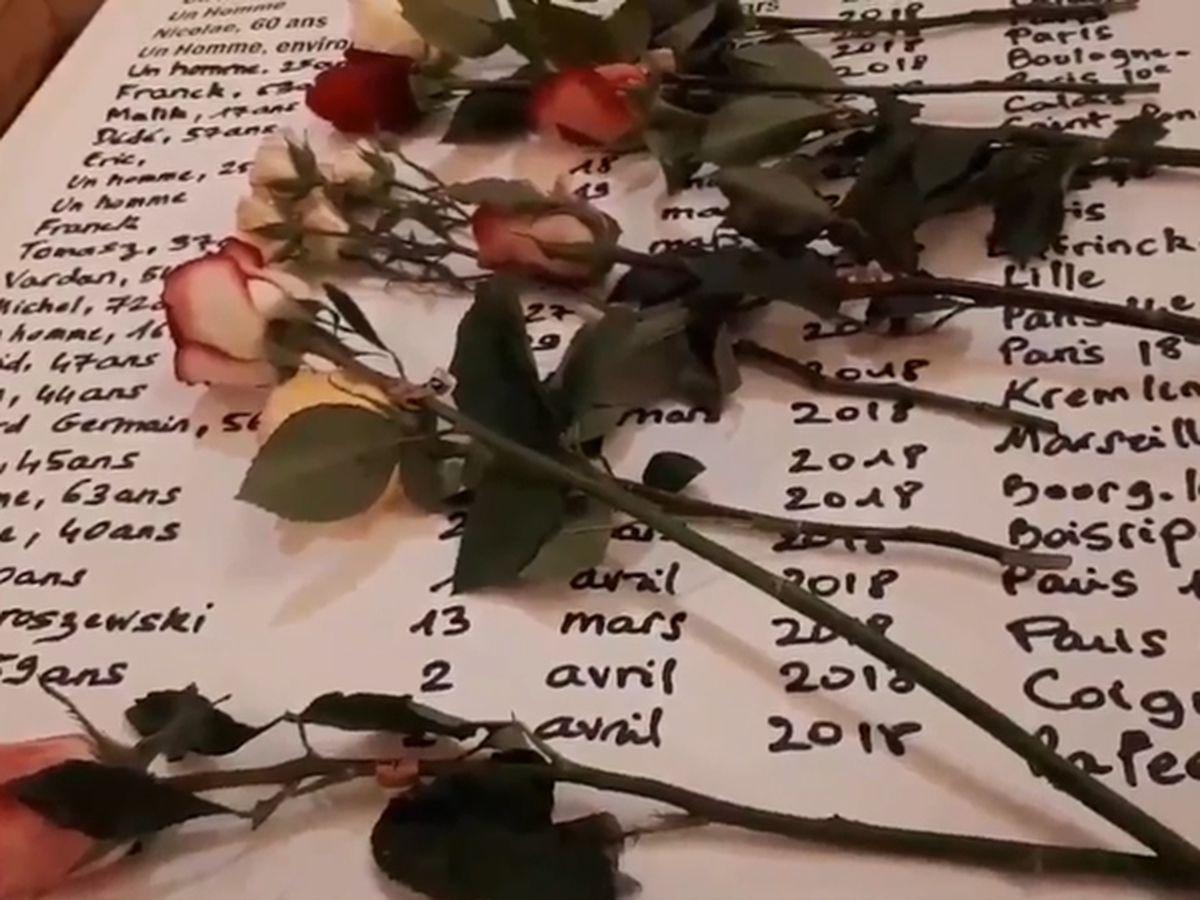 « 535 mots pour 535 morts ». Hommage aux morts de la rue, le 30 mars