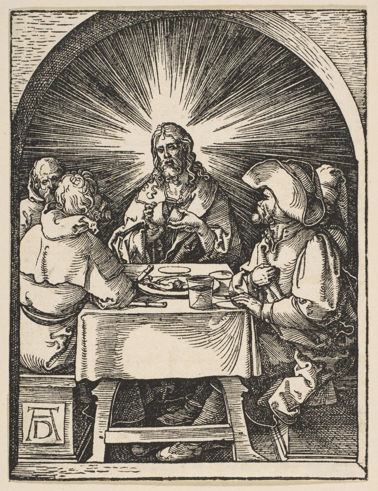 Albrecht Dürer-La cène à Emmaus (de la Petite passion)-1510